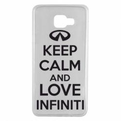Чехол для Samsung A7 2016 KEEP CALM and LOVE INFINITI - FatLine