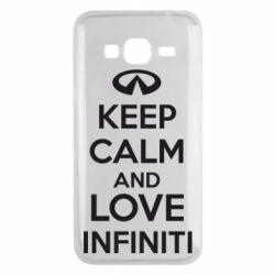 Чехол для Samsung J3 2016 KEEP CALM and LOVE INFINITI - FatLine