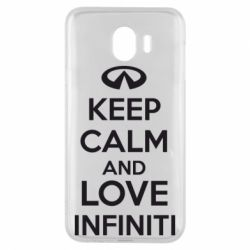 Чехол для Samsung J4 KEEP CALM and LOVE INFINITI - FatLine