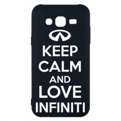 Чехол для Samsung J5 2015 KEEP CALM and LOVE INFINITI - FatLine