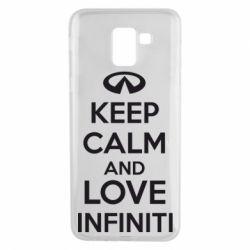 Чехол для Samsung J6 KEEP CALM and LOVE INFINITI - FatLine