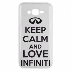 Чехол для Samsung J7 2015 KEEP CALM and LOVE INFINITI - FatLine