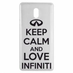 Чехол для Nokia 3 KEEP CALM and LOVE INFINITI - FatLine