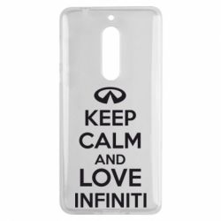 Чехол для Nokia 5 KEEP CALM and LOVE INFINITI - FatLine