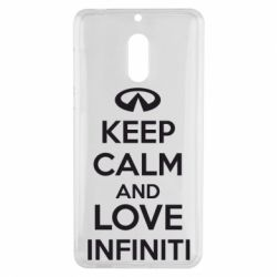 Чехол для Nokia 6 KEEP CALM and LOVE INFINITI - FatLine
