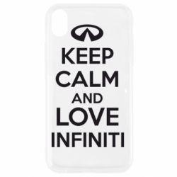 Чехол для iPhone XR KEEP CALM and LOVE INFINITI - FatLine