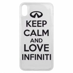 Чехол для iPhone Xs Max KEEP CALM and LOVE INFINITI - FatLine
