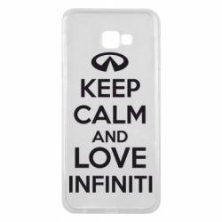 Чехол для Samsung J4 Plus 2018 KEEP CALM and LOVE INFINITI - FatLine