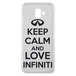 Чехол для Samsung J6 Plus 2018 KEEP CALM and LOVE INFINITI - FatLine