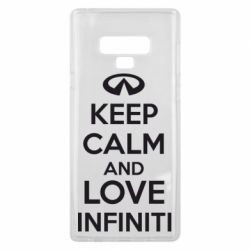 Чехол для Samsung Note 9 KEEP CALM and LOVE INFINITI - FatLine