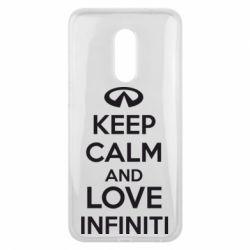 Чехол для Meizu 16 plus KEEP CALM and LOVE INFINITI - FatLine