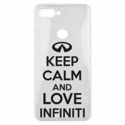 Чехол для Xiaomi Mi8 Lite KEEP CALM and LOVE INFINITI - FatLine