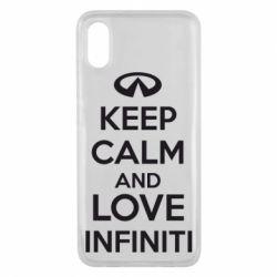 Чехол для Xiaomi Mi8 Pro KEEP CALM and LOVE INFINITI - FatLine