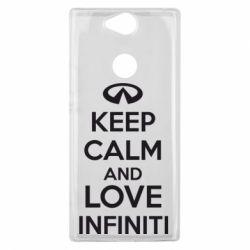 Чехол для Sony Xperia XA2 Plus KEEP CALM and LOVE INFINITI - FatLine
