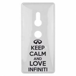 Чехол для Sony Xperia XZ2 KEEP CALM and LOVE INFINITI - FatLine
