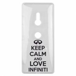Чехол для Sony Xperia XZ3 KEEP CALM and LOVE INFINITI - FatLine