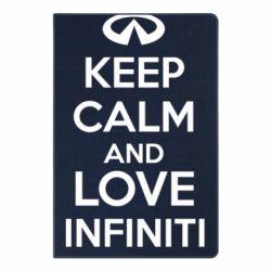 Блокнот А5 KEEP CALM and LOVE INFINITI - FatLine