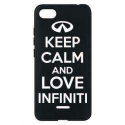 Чехол для Xiaomi Redmi 6A KEEP CALM and LOVE INFINITI - FatLine
