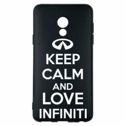 Чехол для Meizu 15 Lite KEEP CALM and LOVE INFINITI - FatLine