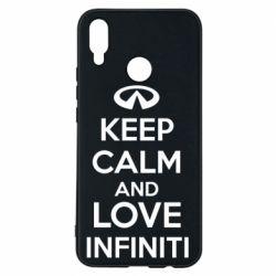 Чехол для Huawei P Smart Plus KEEP CALM and LOVE INFINITI - FatLine