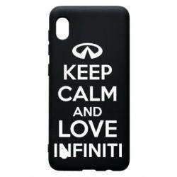 Чехол для Samsung A10 KEEP CALM and LOVE INFINITI
