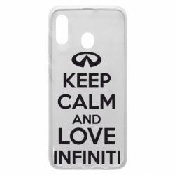 Чехол для Samsung A20 KEEP CALM and LOVE INFINITI