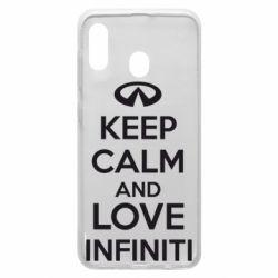 Чехол для Samsung A30 KEEP CALM and LOVE INFINITI