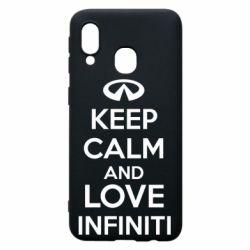 Чехол для Samsung A40 KEEP CALM and LOVE INFINITI