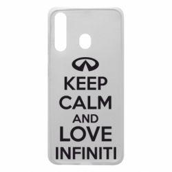 Чехол для Samsung A60 KEEP CALM and LOVE INFINITI