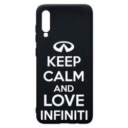 Чехол для Samsung A70 KEEP CALM and LOVE INFINITI