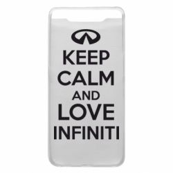 Чехол для Samsung A80 KEEP CALM and LOVE INFINITI