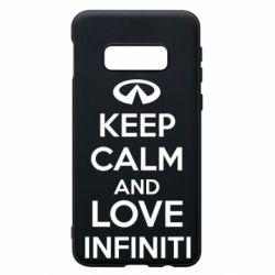 Чехол для Samsung S10e KEEP CALM and LOVE INFINITI