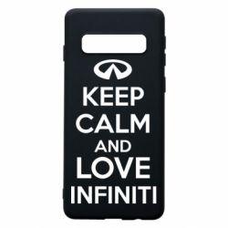 Чехол для Samsung S10 KEEP CALM and LOVE INFINITI
