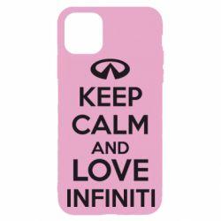 Чехол для iPhone 11 Pro KEEP CALM and LOVE INFINITI