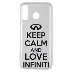 Чехол для Samsung M30 KEEP CALM and LOVE INFINITI