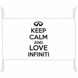 Флаг KEEP CALM and LOVE INFINITI