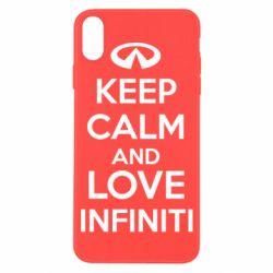 Чехол для iPhone X KEEP CALM and LOVE INFINITI - FatLine