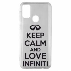 Чехол для Samsung M30s KEEP CALM and LOVE INFINITI