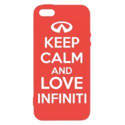 Купить Чехол для iPhone5/5S/SE KEEP CALM and LOVE INFINITI, FatLine