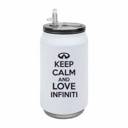 Термобанка 350ml KEEP CALM and LOVE INFINITI