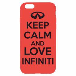 Чехол для iPhone 6/6S KEEP CALM and LOVE INFINITI - FatLine
