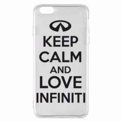 Чехол для iPhone 6 Plus/6S Plus KEEP CALM and LOVE INFINITI - FatLine