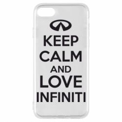 Чехол для iPhone 7 KEEP CALM and LOVE INFINITI - FatLine