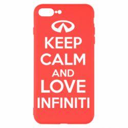 Чехол для iPhone 7 Plus KEEP CALM and LOVE INFINITI - FatLine