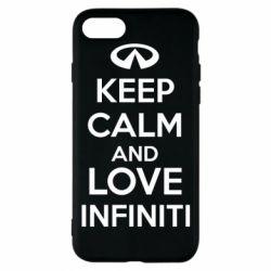 Чехол для iPhone 8 KEEP CALM and LOVE INFINITI - FatLine