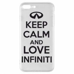 Чехол для iPhone 8 Plus KEEP CALM and LOVE INFINITI - FatLine