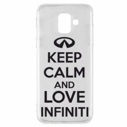 Чехол для Samsung A6 2018 KEEP CALM and LOVE INFINITI - FatLine