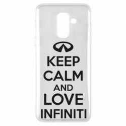 Чехол для Samsung A6+ 2018 KEEP CALM and LOVE INFINITI - FatLine