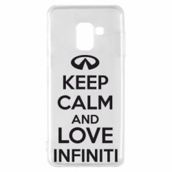 Чехол для Samsung A8 2018 KEEP CALM and LOVE INFINITI - FatLine
