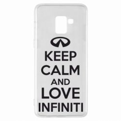 Чехол для Samsung A8+ 2018 KEEP CALM and LOVE INFINITI - FatLine